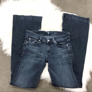 7 For All Mankind Jeans - 7 for All Mankind Dojo Jeans Dark w/ White Stitch
